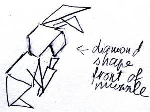 Origami style rabbit