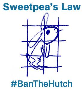 #BanTheHutch logo light blue text
